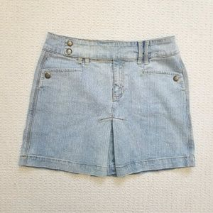 DKNY Jeans pleated denim mini skirt size 2
